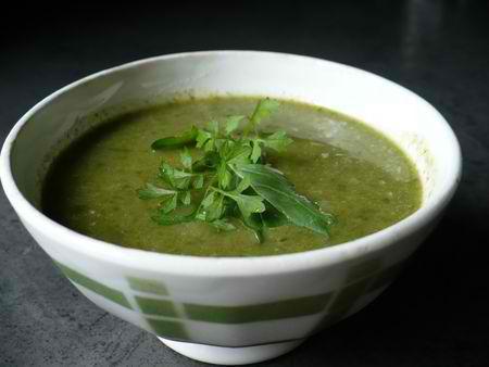 une soupe de cresson