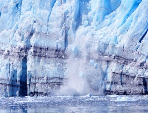 La fonte d'un glacier